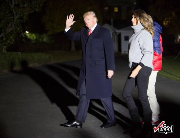 عکس/ بازگشت ترامپ و همسرش به کاخ سفید