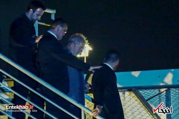 عکس/ رییس جمهور سابق برزیل خود را تسلیم پلیس کرد