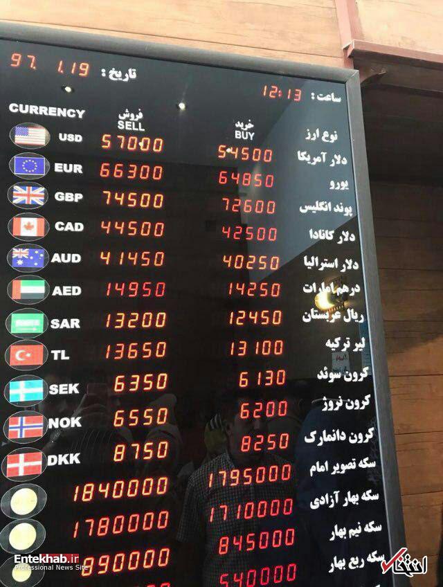 رکوردشکنیها در بازار ارز لحظهای شد: دلار ۵۷۰۰، یورو ۶۵۰۰ تومان / افتضاح سقوط پول ملی؛ به مردم توهین نکنید و در مورد این فاجعه، توضیح دهید