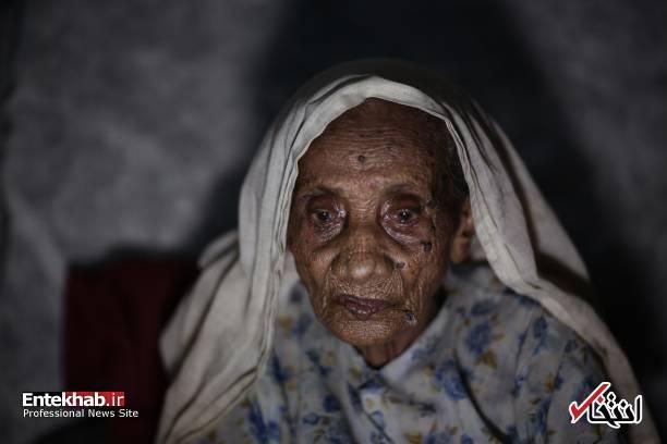 عکس/ پیرترین آواره روهینگیا