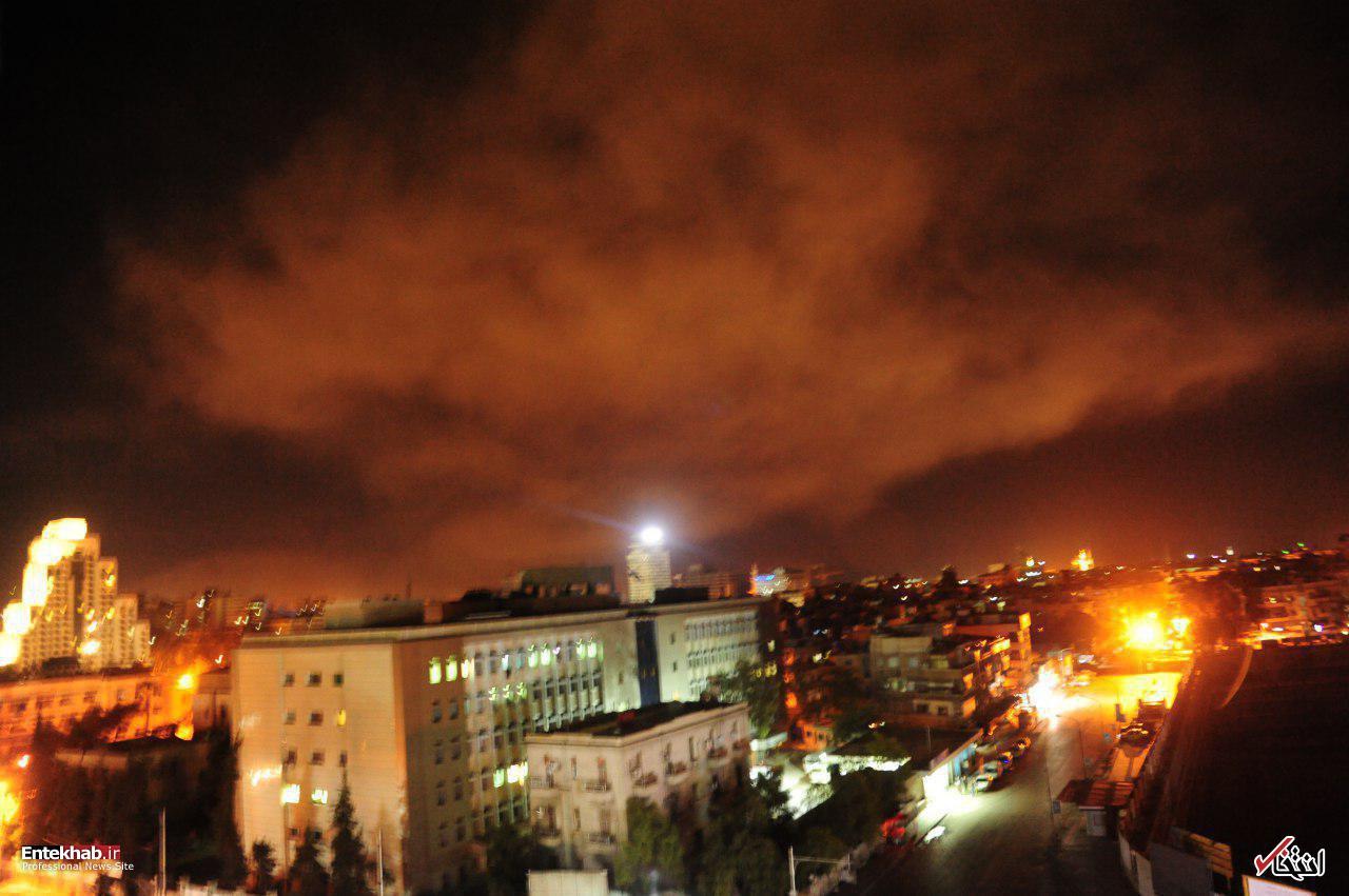 حملات هوایی آمریکا، فرانسه و انگلیس به دمشق /