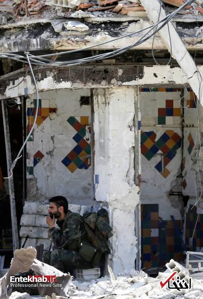 تصاویر : گشتی در خیابان های دوما پس از خروج آخرین گروه تروریست ها