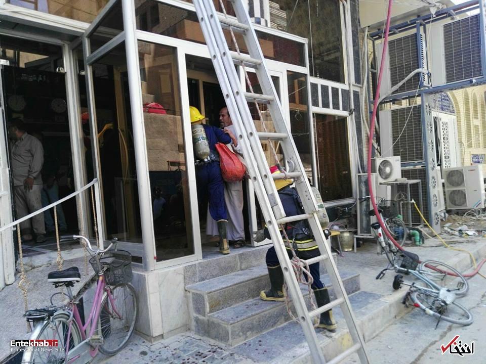 تصاویر : آتش سوزی هتل زائران ایرانی در نجف اشرف