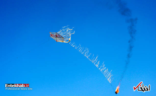 تصاویر : بادبادکهای آتشزا؛ سلاح جدید جوانان فلسطینی