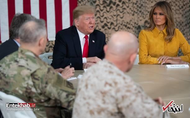 تصاویر: حاشیههایی از سفر ترامپ و همسرش به عراق - 17
