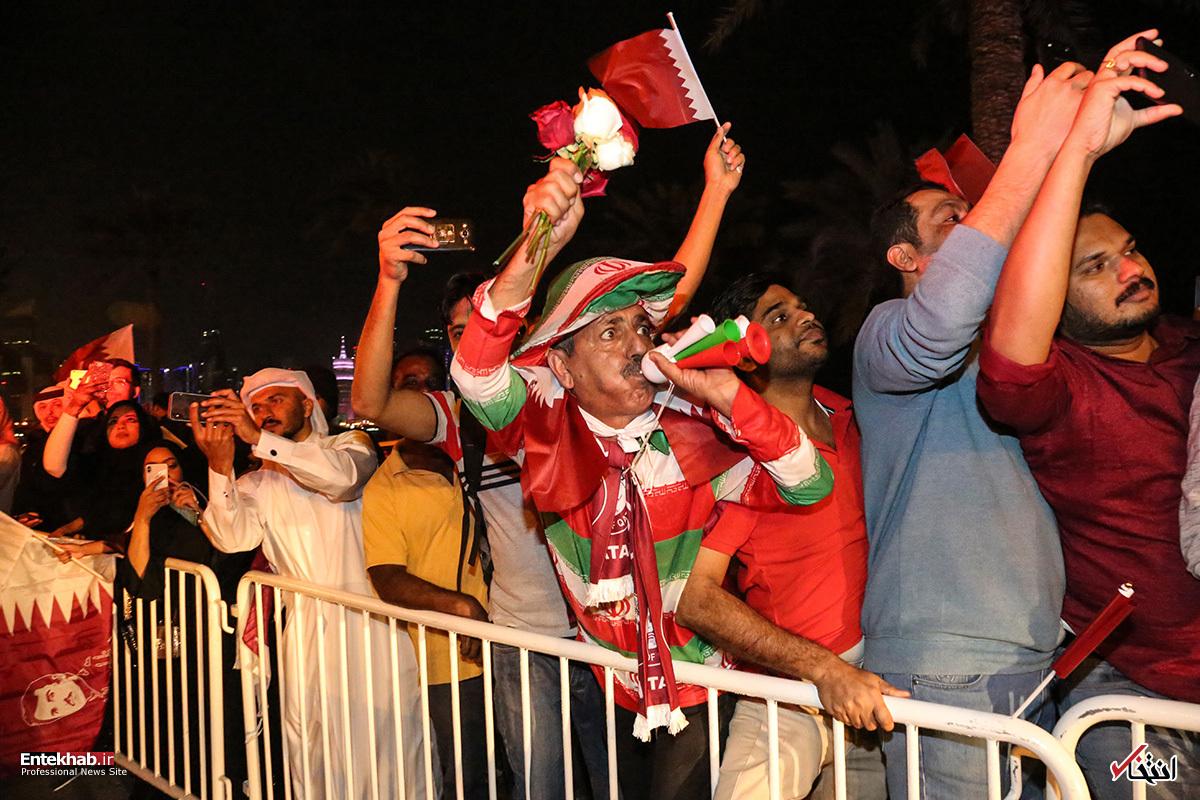 تصاویر : استقبال مردم قطر