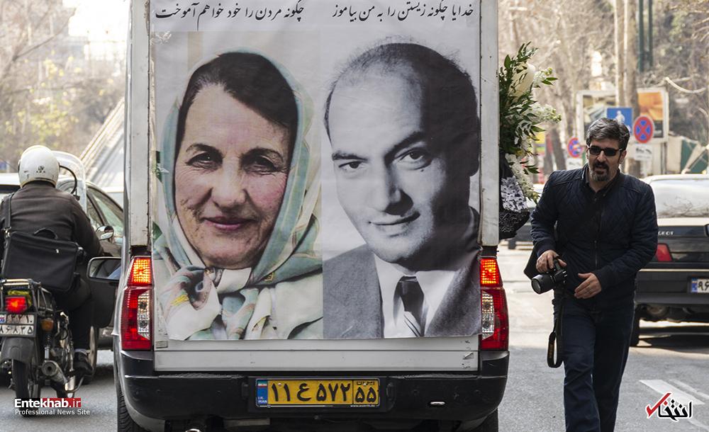 تصاویر برگزیده : تشییع پیکر پوران شریعترضوی همسر علی شریعتی