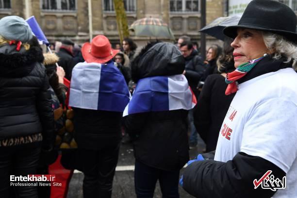 لینک گروه تلگرام شال تصاویر : شال قرمزها علیه جلیقه زردها در پاریس