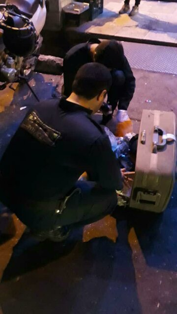 کشف چمدان مشکوک در سعادت آباد + عکس