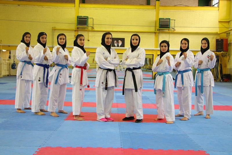 دختران کاراته ایران بر بام آسیا ایستادند