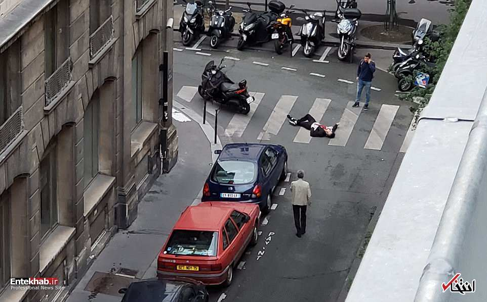 تصاویر : حمله یک داعشی با چاقو به رهگذران در پاریس