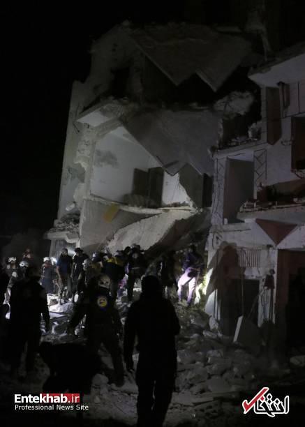 تصاویر : انفجار در ادلب