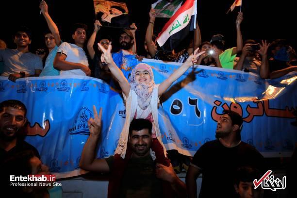 تصاویر : جشن و شادمانی هوادارن مقتدی صدر
