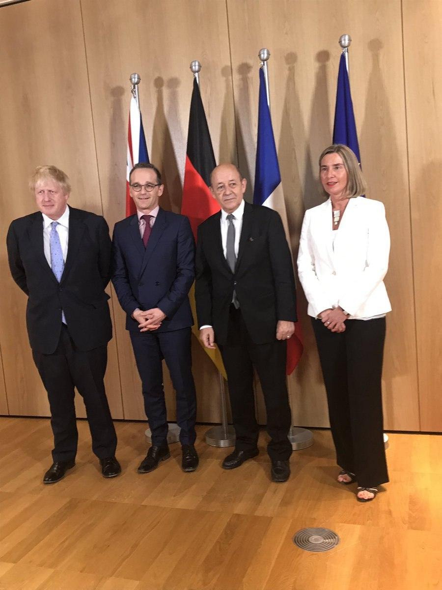 آغاز دیدار موگرینی و وزیران خارجه سه کشور اروپایی