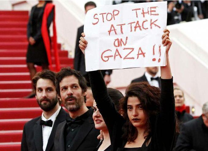 اعتراض به جنایات اسرائیل، به جشنواره کن کشید