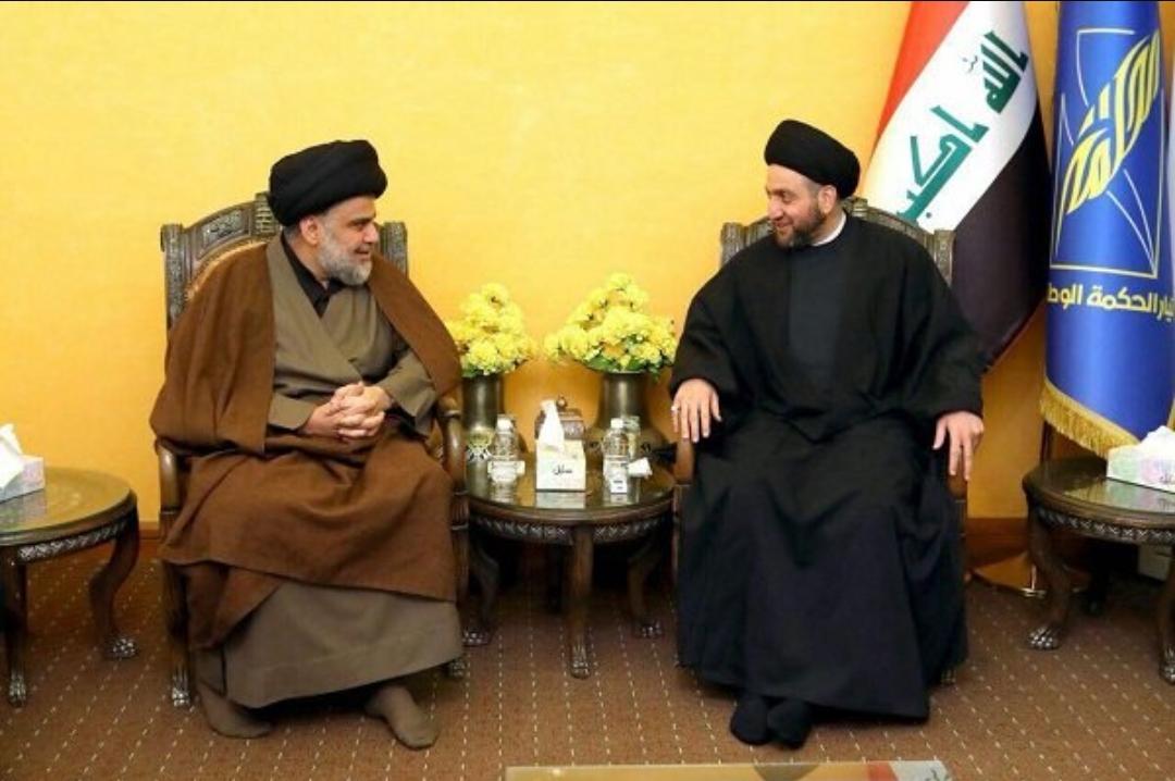مقتدی الصدر و عمار حکیم برای تشکیل ائتلاف دیدار کردند