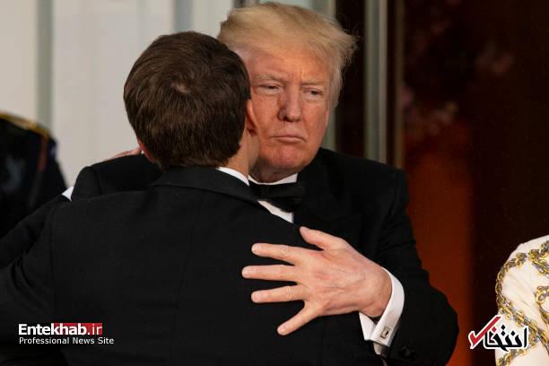 تصاویر : حاشیههای دیدار مکرون با ترامپ