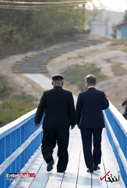 تصاویر : حاشیه هایی از دیدار تاریخی رهبر کره شمالی با رییس جمهور کره جنوبی