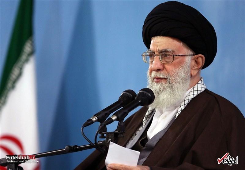سخنرانی رهبر معظم انقلاب در حرم امام حمینی (ره) آغاز شد