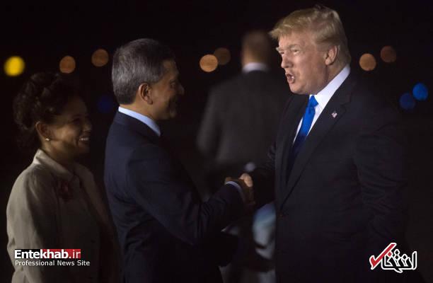 تصاویر : ترامپ شبانه وارد سنگاپور شد