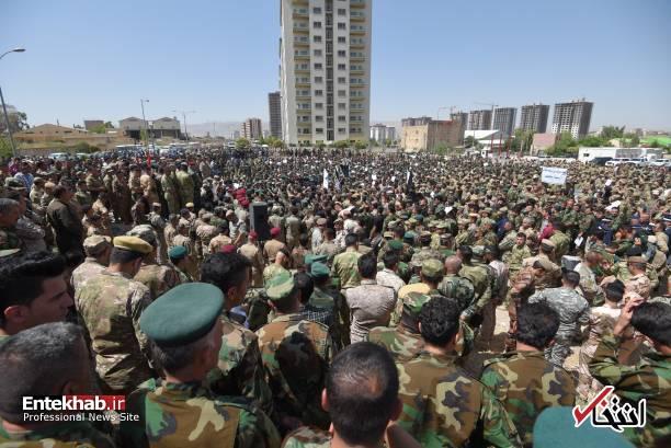 عکس/ خشم <a class='no-color' href='http://newsfa.ir/'>نیروهای پیشمرگه </a> از <a class='no-color' href='http://newsfa.ir/'> پارلمان عراق</a>