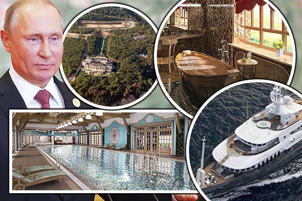 ثروت ۱۵۰ میلیارد پوندی و زندگی سوپر لاکچری پوتین+ تصاویر