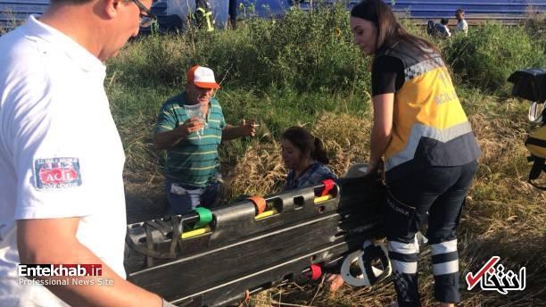 عکس/ خروج مرگبار قطار از ریل در ترکیه