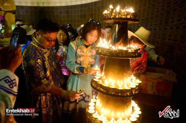 عکس/ مراسم یادبود چنگیزخان مغول
