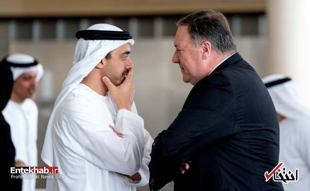 عکس/ دیدار صمیمی وزیر خارجه آمریکا با مقامات امارات
