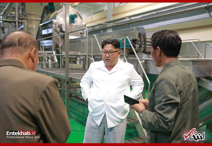 تصاویر : رهبر کره شمالی در مزرعه و کارخانه فرآوری سیب زمینی