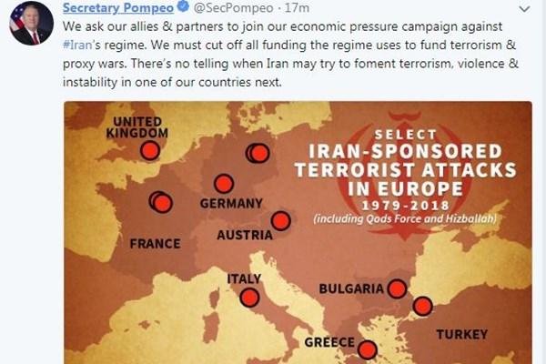 وزیر خارجه آمریکا: از متحدانمان میخواهیم به کارزار فشار اقتصادی علیه ایران بپیوندند
