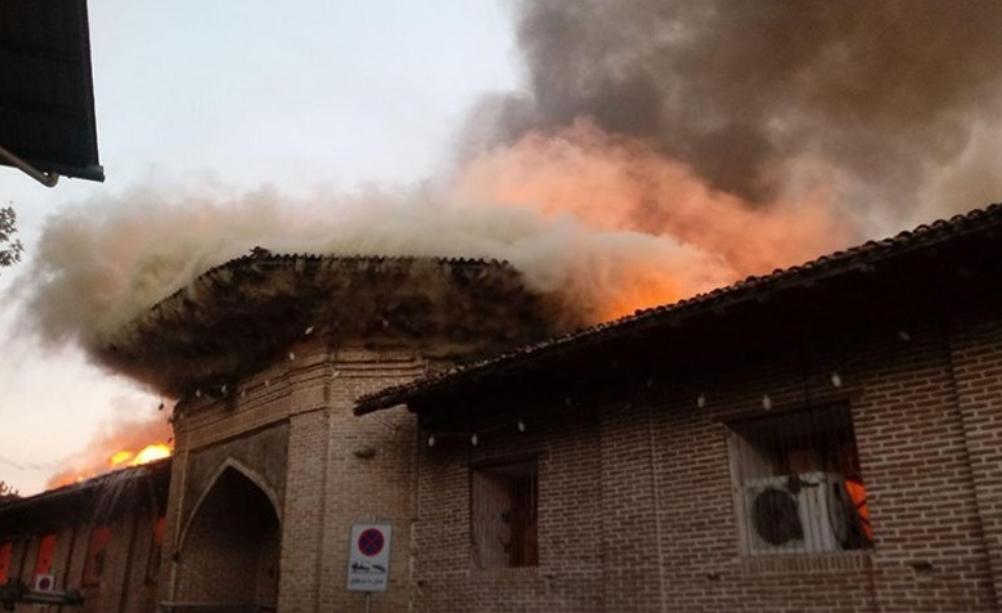 مهار آتش سوزی مسجد جامع ساری