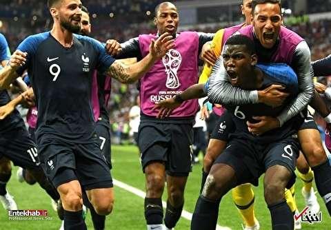 کرواسی ۲ - ۴ فرانسه/ خروسها برای دومین بار قهرمان جام جهانی شدند