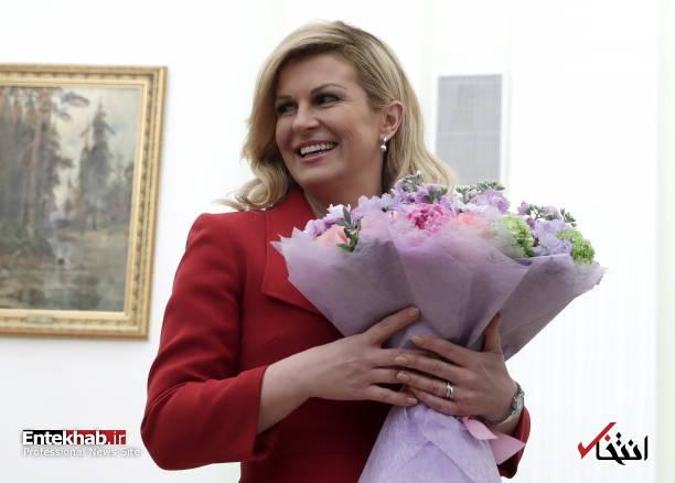 عکس/ دسته گل پوتین برای رییس جمهور کرواسی