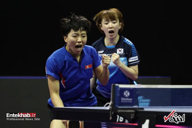 عکس/  تیم مشترک کره شمالی و جنوبی در مسابقات تنیس روی میز