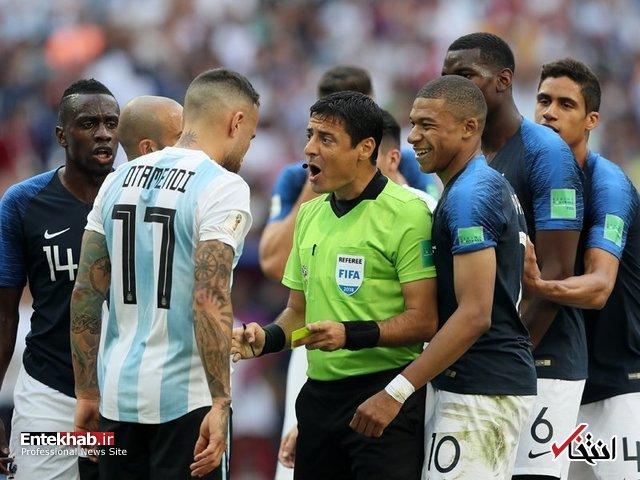 جامجهانی/ گزارش زنده: آرژانتین ۲ - ۱ فرانسه