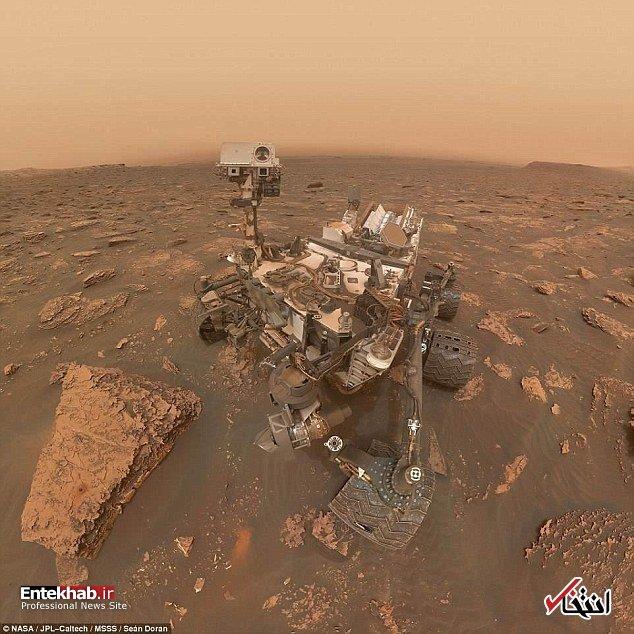 فیلم/ تغییرات سطح مریخ در اثر طوفان غبار را ببینید
