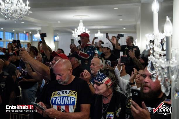 عکس/ دیدار موتورسواران با ترامپ