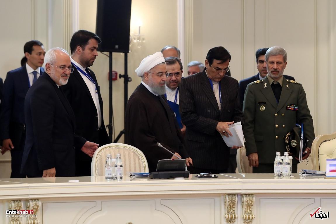 تصاویر: رئیس جمهور روحانی در اجلاس سران کشورهای ساحلی دریای خزر