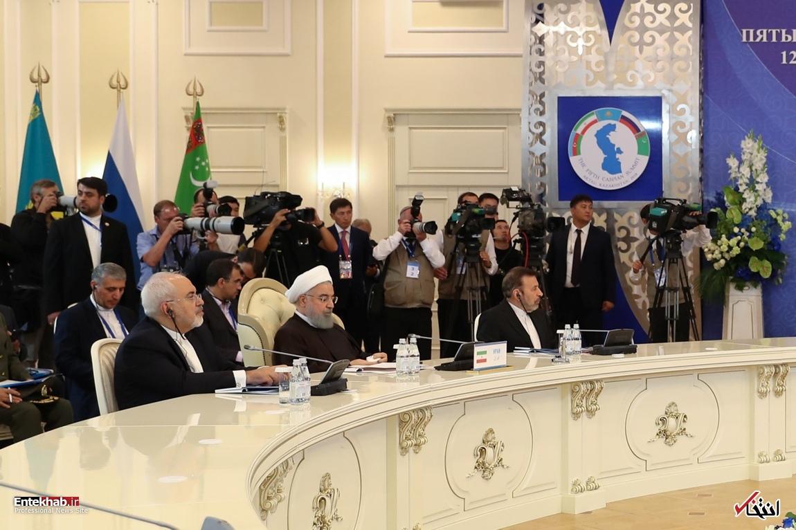 تصاویر : رئیس جمهور روحانی در اجلاس سران کشورهای ساحلی دریای خزر