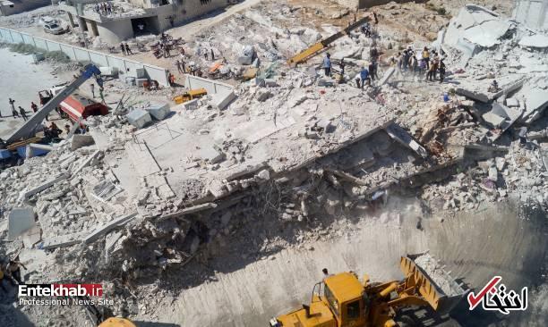 عکس/ انفجار مرگبار در ادلب سوریه