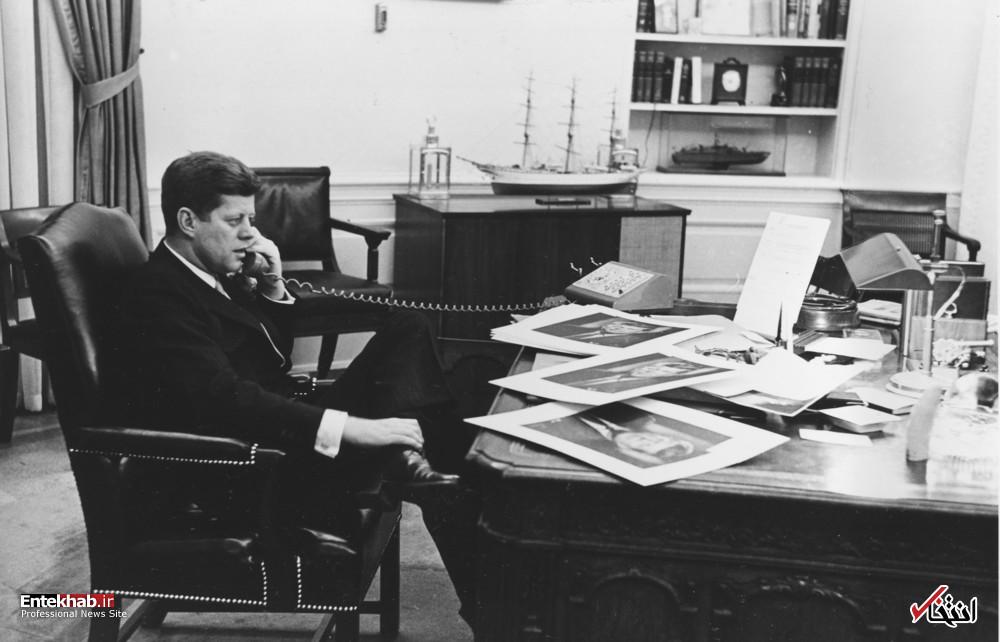 تصاویر : تلفنهای رؤسای جمهور آمریکا از ویلیام هوارد تا دونالد ترامپ