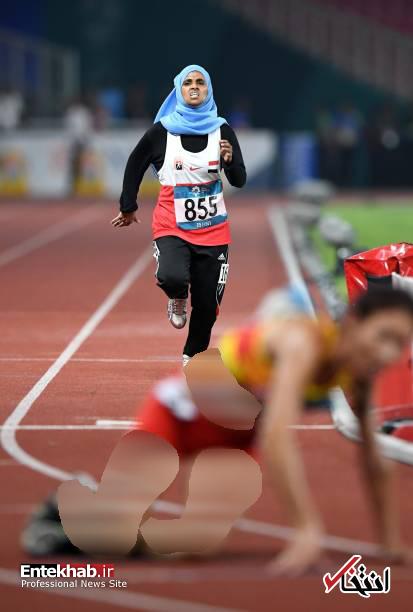 عکس/ پوشش دونده زن یمنی در بازیهای آسیایی