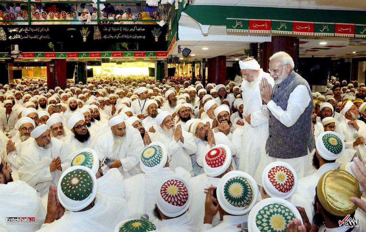 تصاویر/ حضور نخست وزیر هند در مراسم عزاداری امام حسین(ع)