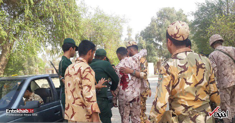 تصاویر اولیه از حمله تروریستی به رژه نیروهای مسلح در اهواز