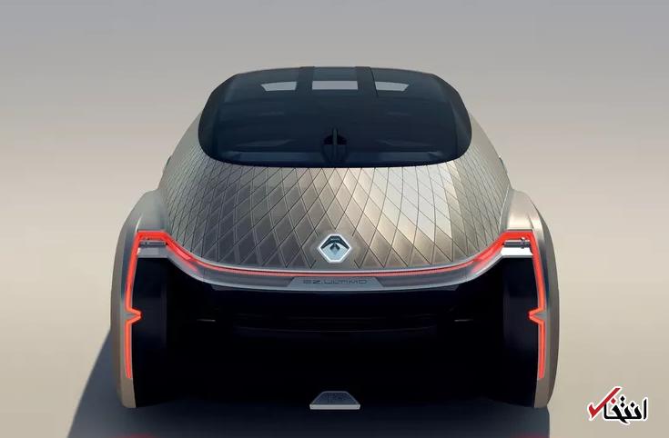 طرح مفهومی خودرو جدید رنو رونمایی شد / خودران و الکتریک / طراحی فانتزی