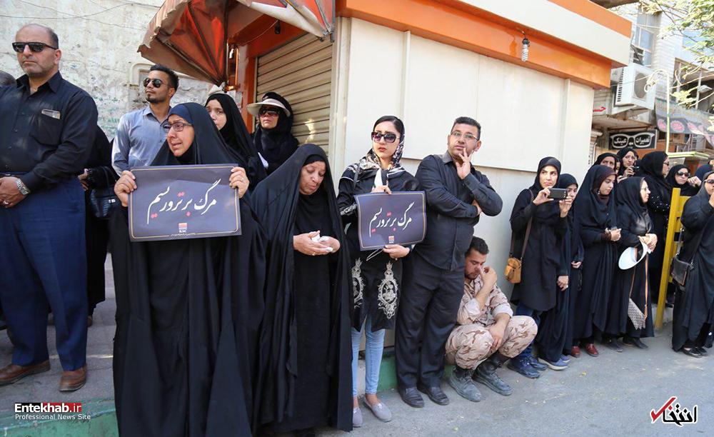 تصاویر : تشییع پیکر شهدای حادثه تروریستی اهواز