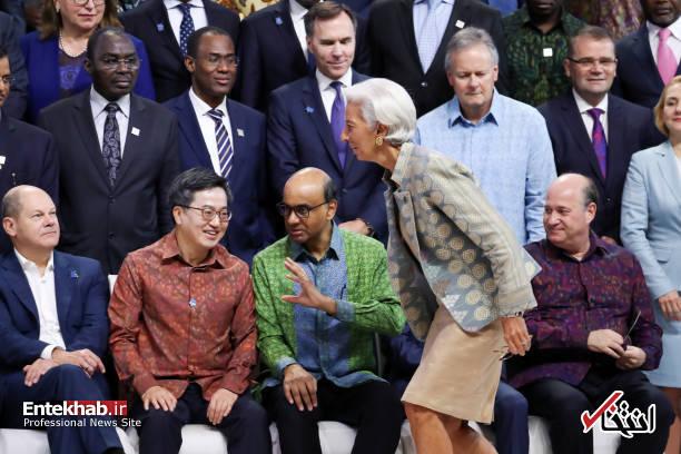 عکس یادگاری اجلاس سالانه صندوق بین المللی پول