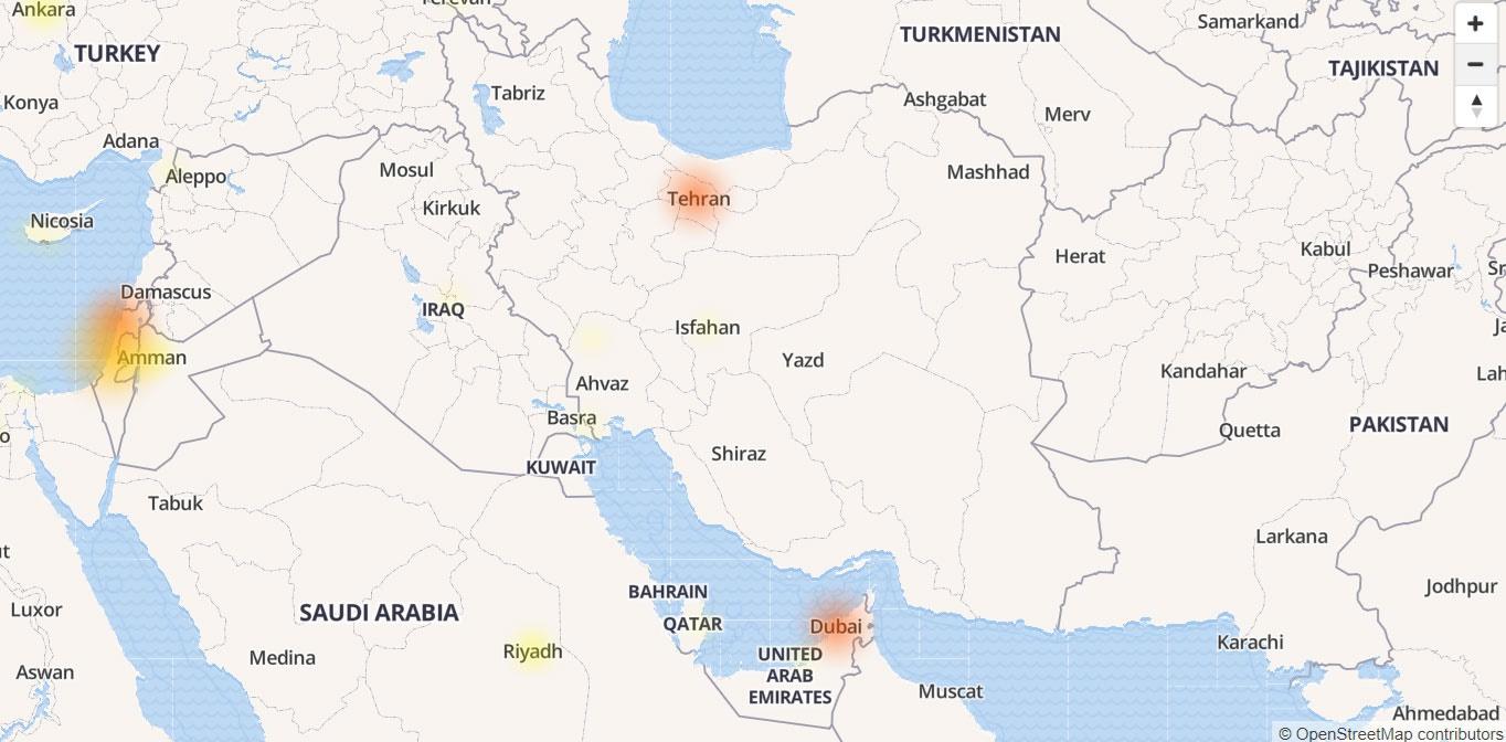 قطع سراسری تلگرام در ایران و اروپا + نقشه