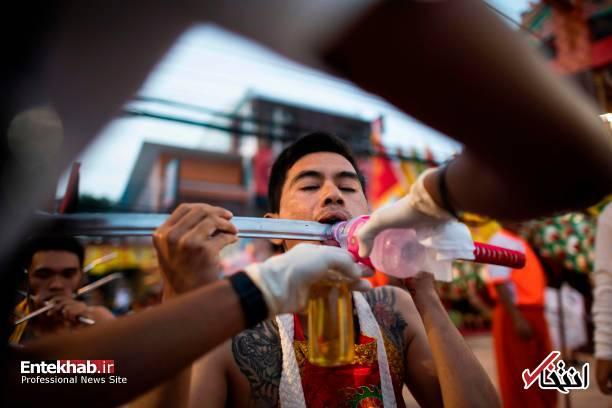 تصاویر : جشنواره عجیب گیاهخواری در تایلند